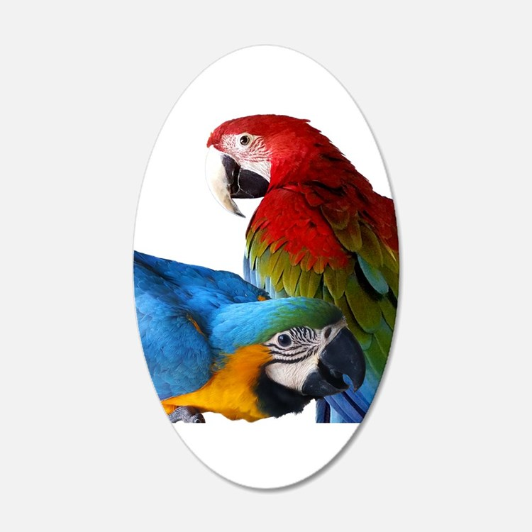 2 Macaws Wall Decal