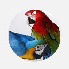 2 Macaws Round Ornament