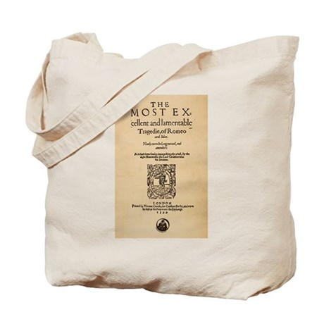 Romeo & Juliet Quarto (1599) Tote Bag
