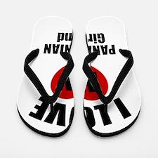 I Love My Panama Girlfriend Flip Flops