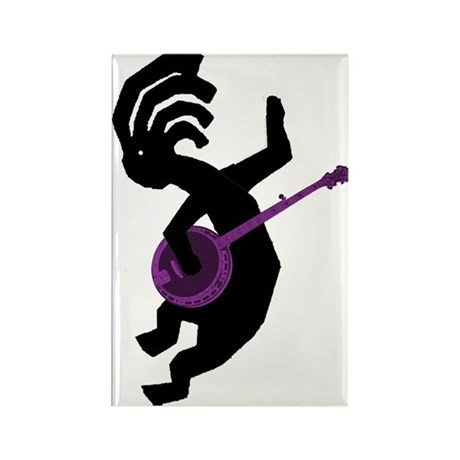 Kokopelli Banjo Rectangle Magnet