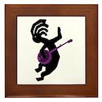 Kokopelli Banjo Framed Tile