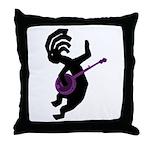 Kokopelli Banjo Throw Pillow