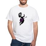 Kokopelli Banjo White T-Shirt