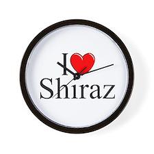 """""""I Love Shiraz"""" Wall Clock"""