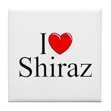 """I Love Shiraz"" Tile Coaster"