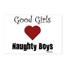 Good Girls Naughty Boys Postcards (Package of 8)