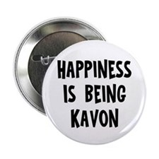 "Happiness is being Kavon 2.25"" Button"