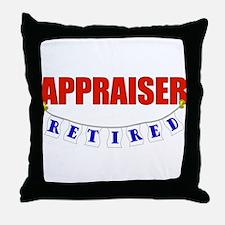 Retired Appraiser Throw Pillow