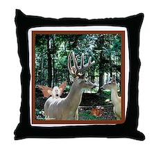 Deer & Fairy Fantasy Throw Pillow