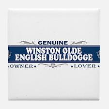 WINSTON OLDE ENGLISH BULLDOGGE Tile Coaster