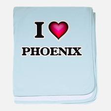 I Love Phoenix baby blanket