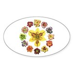 Daylily Time Oval Sticker