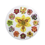 Daylily Time Ornament (Round)