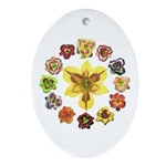 Daylily Time Oval Ornament