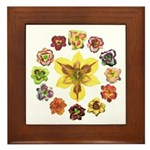 Daylily Time Framed Tile
