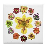 Daylily Time Tile Coaster