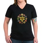 Daylily Time Women's V-Neck Dark T-Shirt