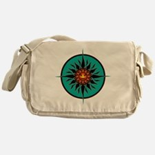 Funny Smiling sun Messenger Bag