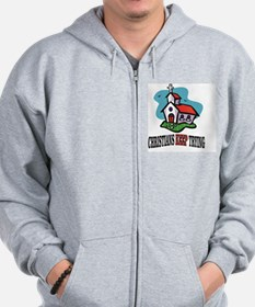 Cool Feed the hungry Zip Hoodie