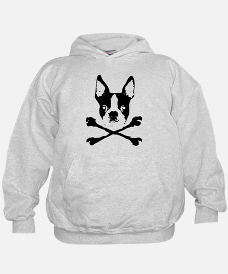 Boston Terrier Crossbones Hoodie