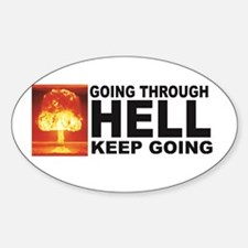 a bomb hell going Decal