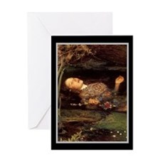 Millais Ophelia/border Greeting Card