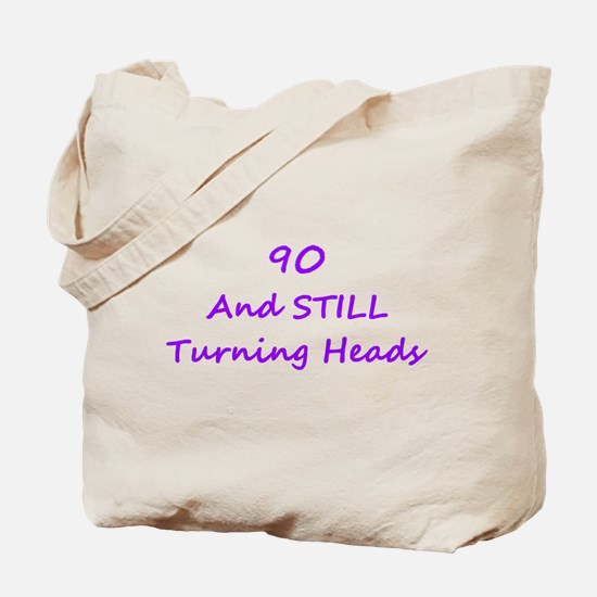 90 Still Turning Heads 1C Purple Tote Bag