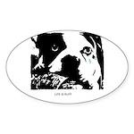 SAD DOG Oval Sticker