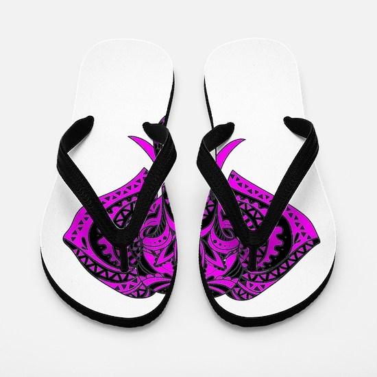 Purple Elephant Flip Flops