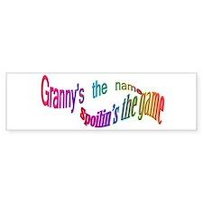 Granny's the name Bumper Bumper Sticker