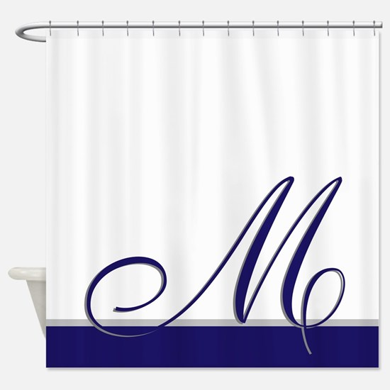 Choose Your Colors Monogram Shower Curtain