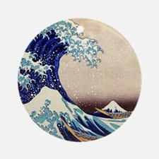 Great Wave Off Kanagawa Round Ornament