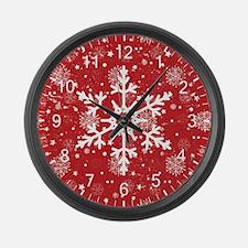 Snowflake Time Large Wall Clock