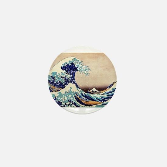 Great Wave Off Kanagawa Mini Button