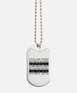 Sticks and Stones and... Anxiety Dog Tags
