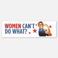 Funny Rosie the riviter Sticker (Bumper)