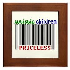 Autistic Children: Priceless Framed Tile