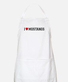 I Love Mustangs BBQ Apron