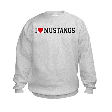 I Love Mustangs Kids Sweatshirt