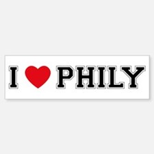 I Love Phily Bumper Bumper Bumper Sticker