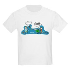 Funny tennis fan cartoon T-Shirt for cute kids