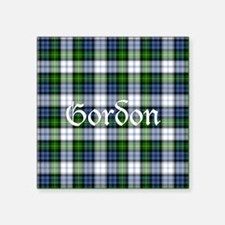 "Tartan - Gordon dress Square Sticker 3"" x 3"""