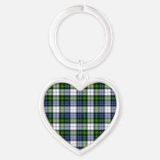 Tartan - Gordon dress Heart Keychain