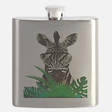 Cute Zebras Flask
