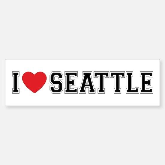 I Love Seattle Bumper Bumper Bumper Sticker