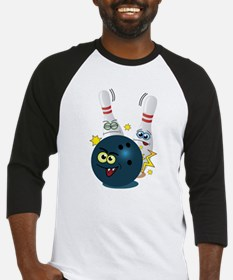 Bowling Ball and Pins Baseball Jersey