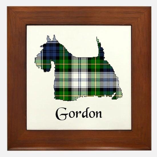 Terrier-Gordon dress Framed Tile