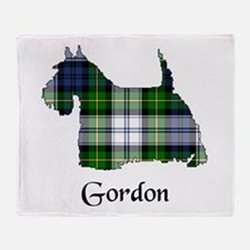 Terrier-Gordon dress Throw Blanket