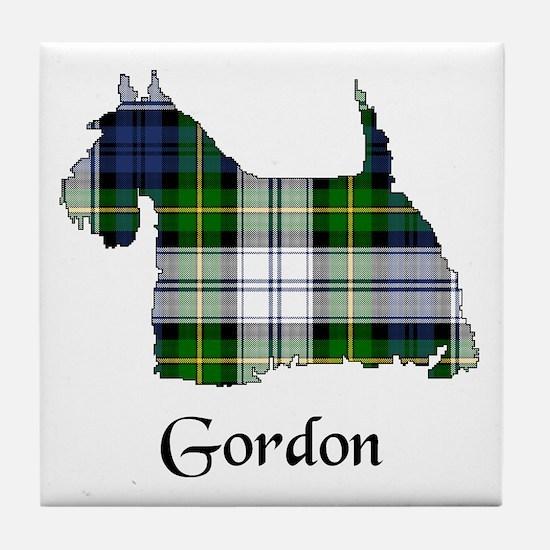 Terrier-Gordon dress Tile Coaster